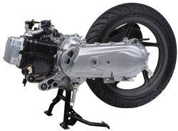 двигатель и вариатор скутера, фото